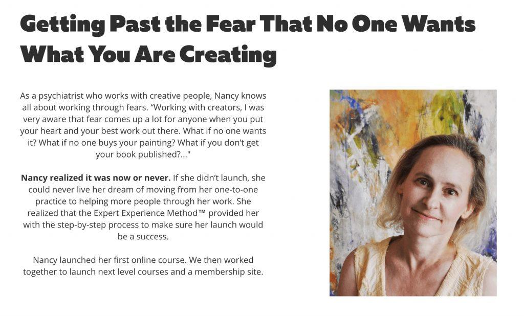 Getting Past Fear-Nancy Hillis